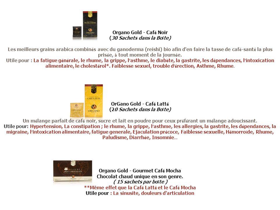 Organo Gold - Caf é Noir (30 Sachets dans la Bo î te) Les meilleurs grains arabica combin é s avec du ganoderma (reishi) bio afin d'en faire la tasse