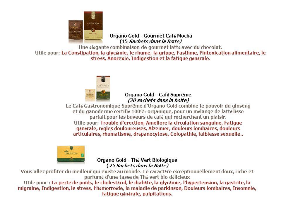 Organo Gold - Gourmet Caf é Mocha (15 Sachets dans la Bo î te) Une é l é gante combinaison de gourmet latt é avec du chocolat. Utile pour: La Constipa