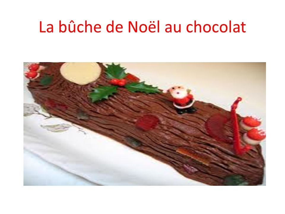 La bûche de Noël au chocolat