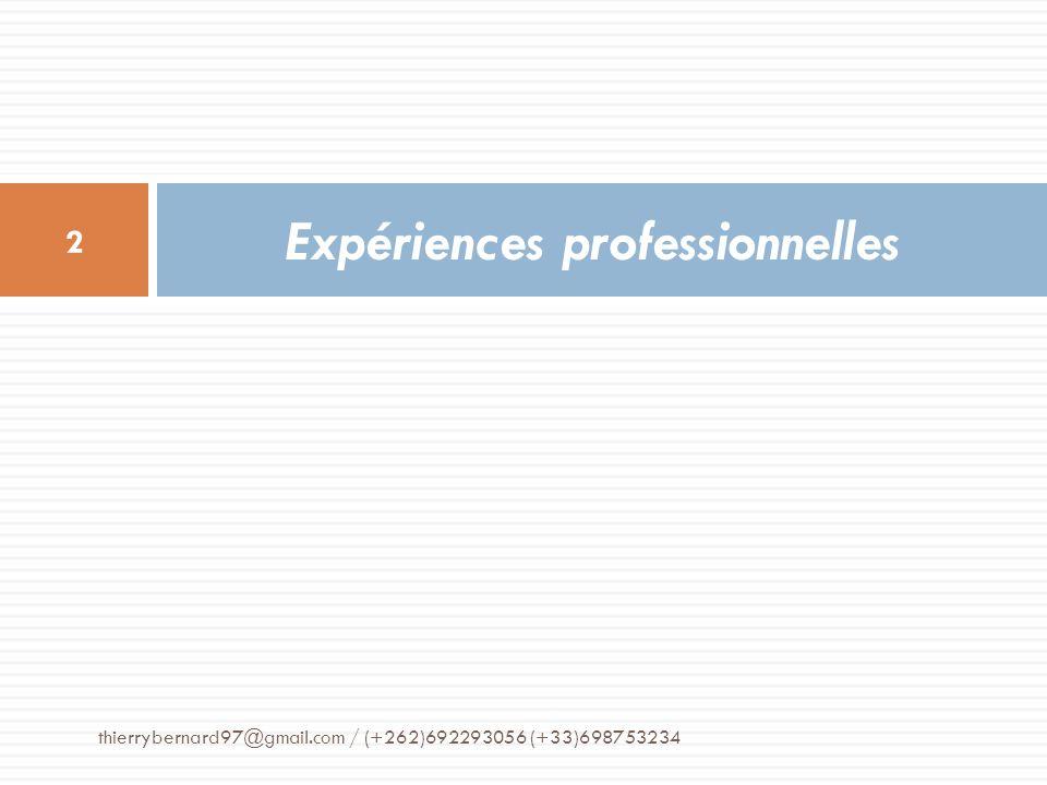 Cabinet de conseil Nosy Consult Île de la Réunion, France métropolitaine Avril 2012 à ce jour Administrateur et consultant chez Nosy Consult, cabinet de conseils et dassistance aux PME et artisans.