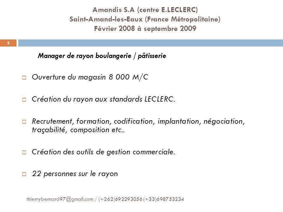 Informatique thierrybernard97@gmail.com / (+262)692293056 (+33)698753234 16 Outils Microsoft: Word / Excel / Power Point (très bonne maîtrise) Citrix (Français et Anglais) Abaco Vega Anabelle
