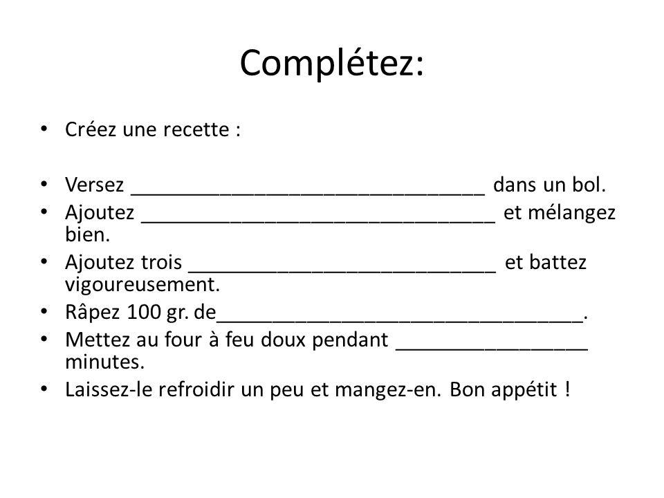 Ma Recette Le miam-miam au chocolat 2 tasses de sucre 1 tasse de farine 1 livre de beurre 250 g.
