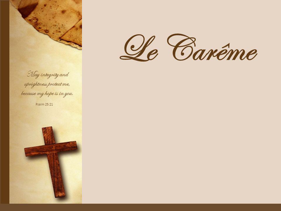 On appelle « carême » la période de quarante jours (quadragesima) réservée à la préparation de Pâques