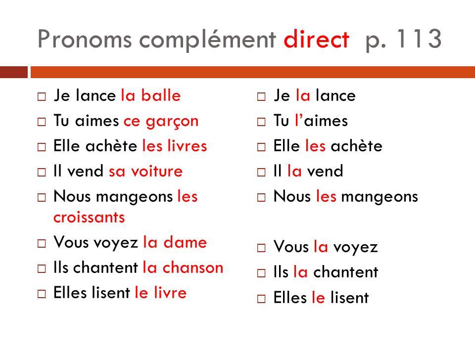 Pronoms complément direct p.
