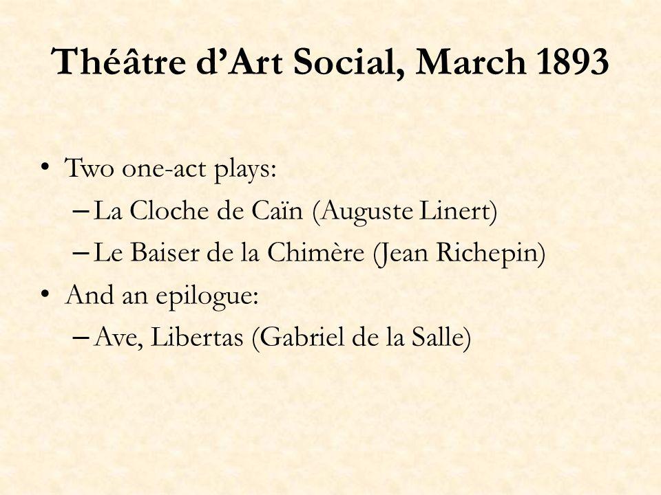 Eugène Thebault, Art Social, April 1893 Le régime anarchique ne peut convenir quà un peuple doisifs, cultivés, énergiques et curieux avant tout dentraînement cérébral, exempts des préjugés courants de patriotisme, de famille, de devoir, de travail…