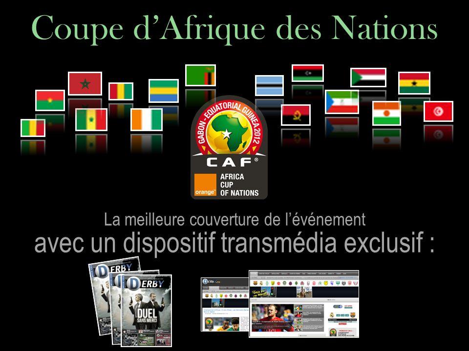 La meilleure couverture de lévénement avec un dispositif transmédia exclusif : Coupe dAfrique des Nations