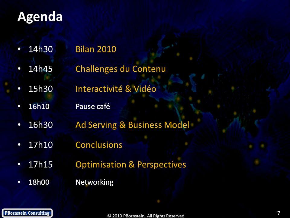 18 © 2010 PBornstein, All Rights Reserved L interactivité dans la vidéo : c est quoi, c est comment, à quoi ça sert .
