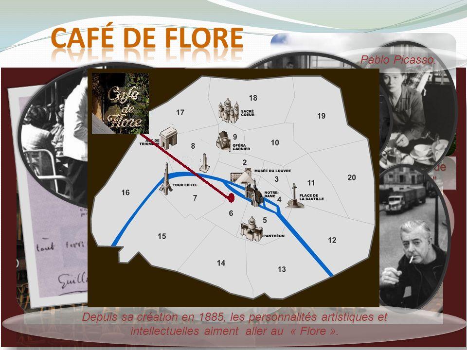 Simone de Beauvoir et Jean- Paul Sartre au Café de Flore, 1944 son nom vient dune sculpture de la déesse du printemps