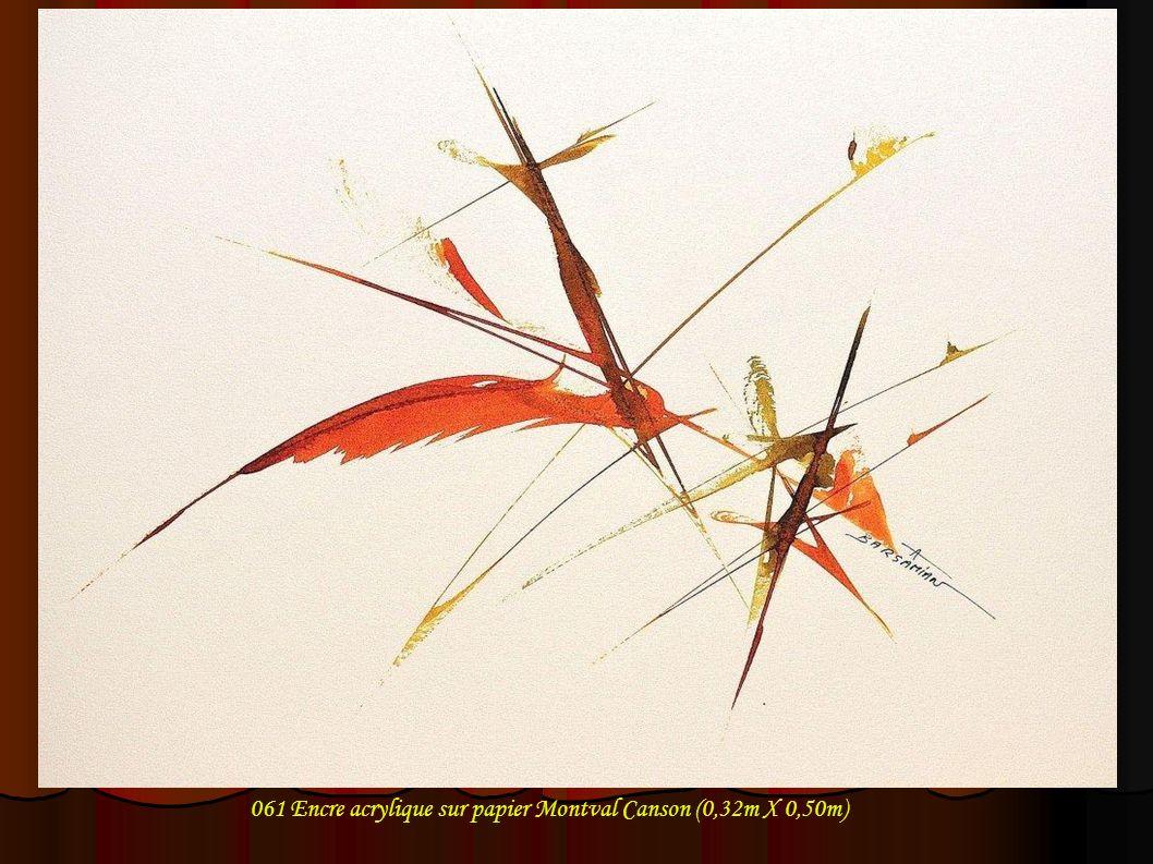 061 Encre acrylique sur papier Montval Canson (0,32m X 0,50m)