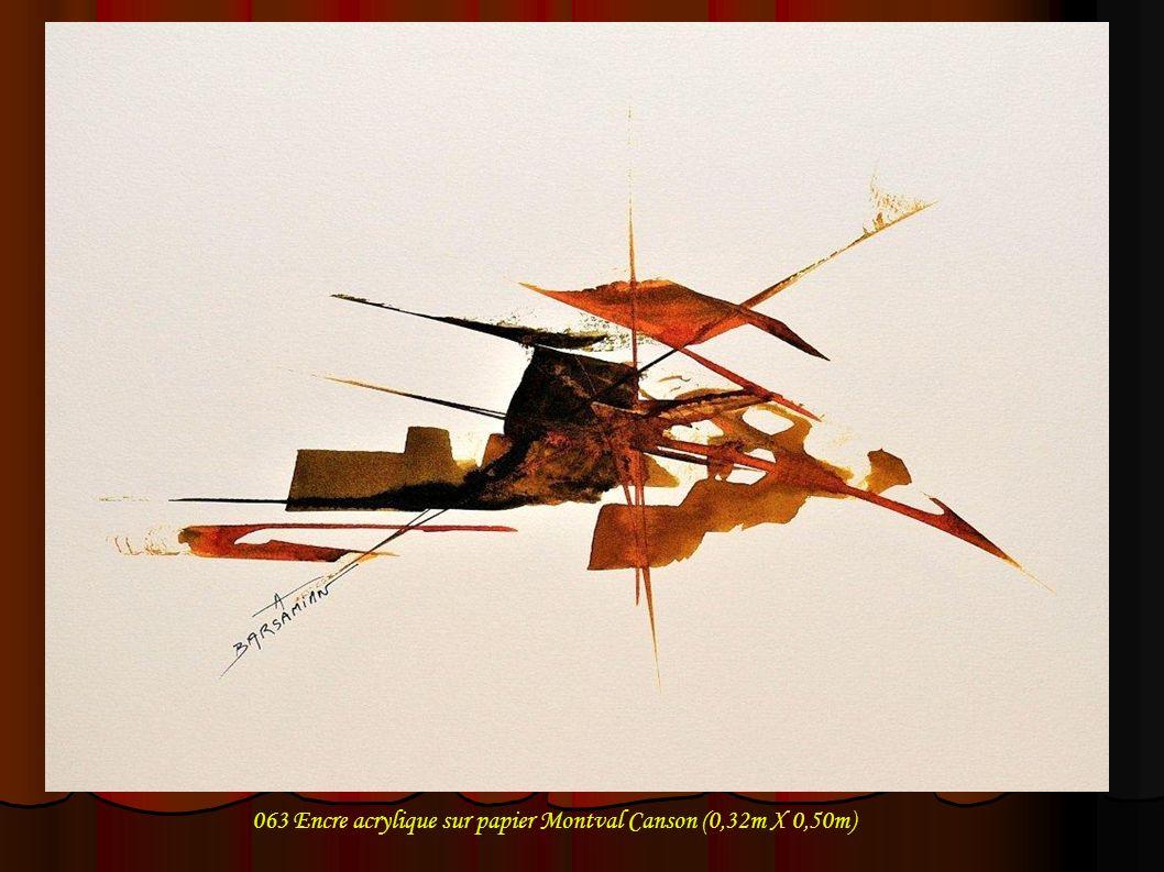 063 Encre acrylique sur papier Montval Canson (0,32m X 0,50m)