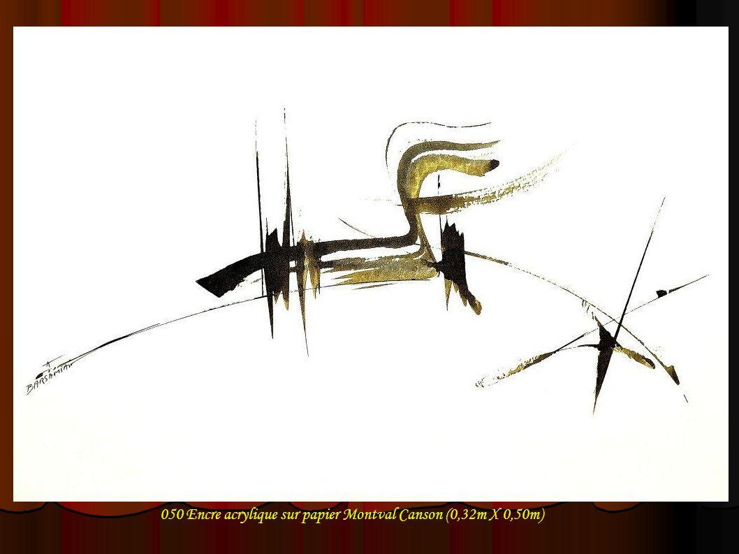 050 Encre acrylique sur papier Montval Canson (0,32m X 0,50m)