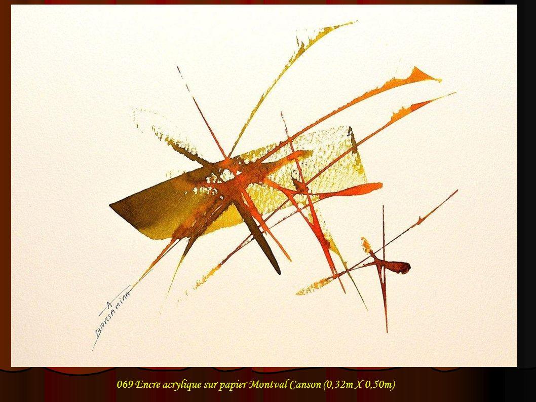 069 Encre acrylique sur papier Montval Canson (0,32m X 0,50m)