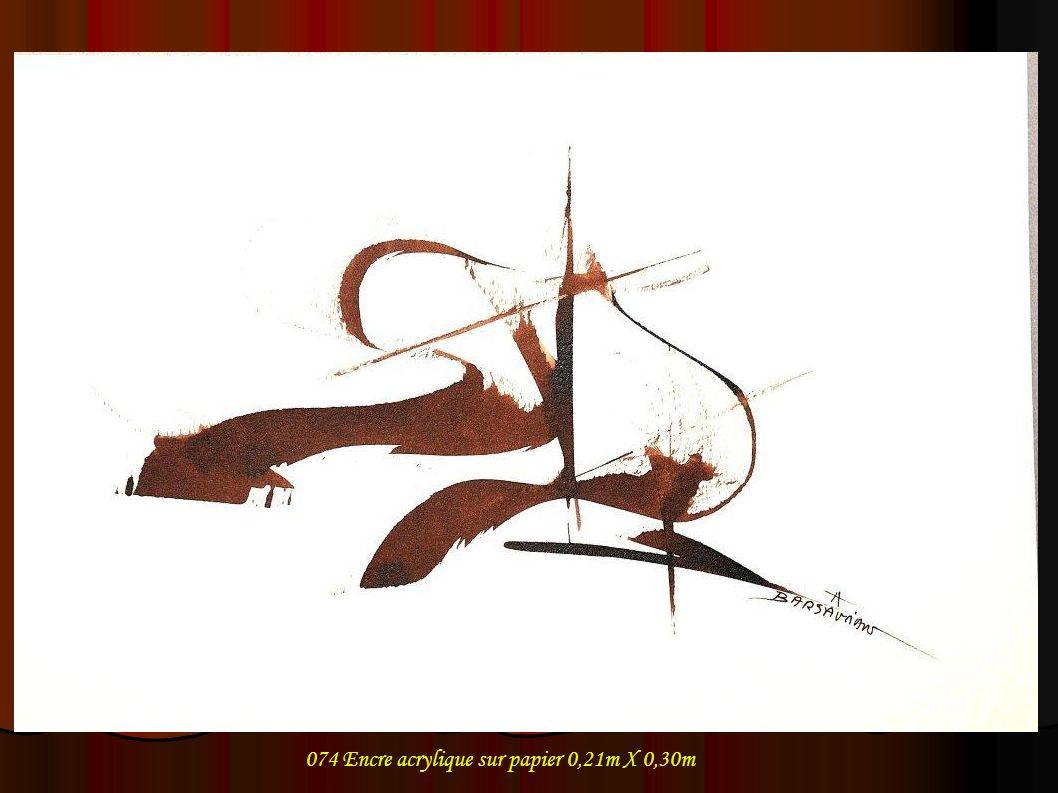 074 Encre acrylique sur papier 0,21m X 0,30m