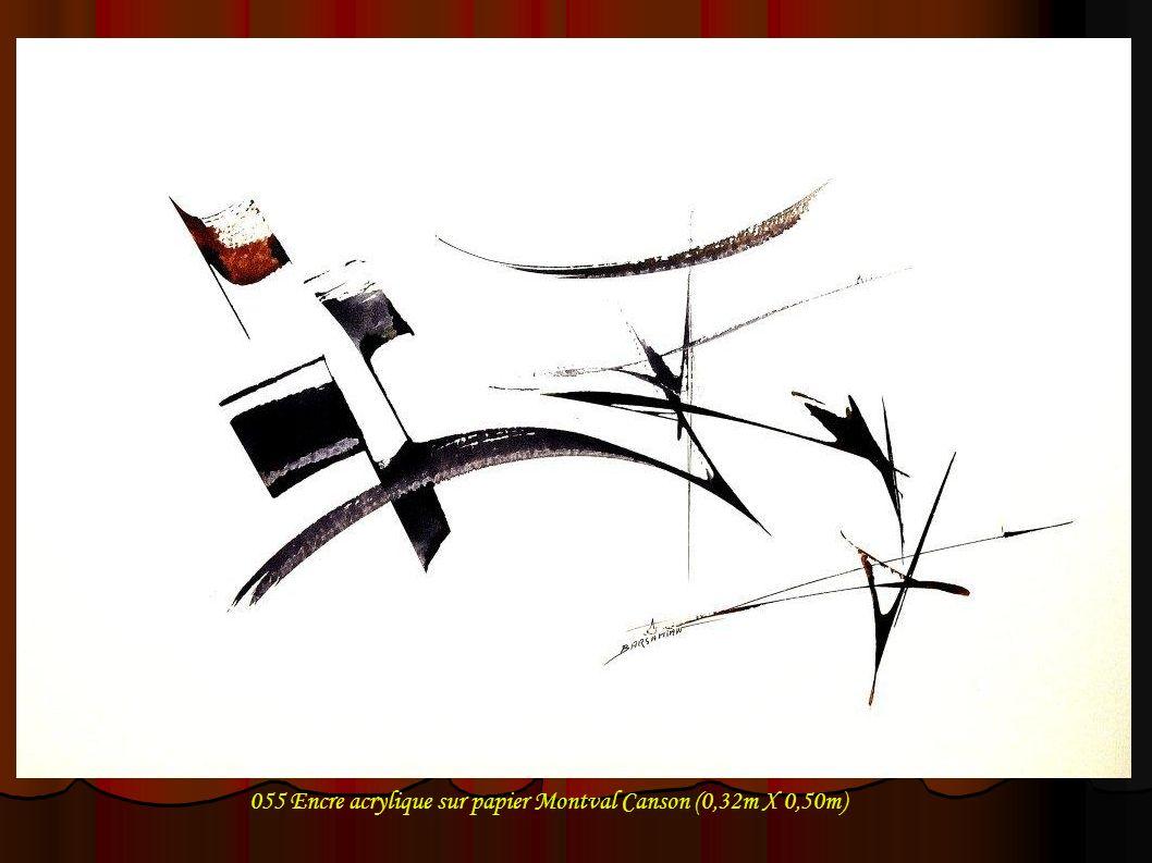 055 Encre acrylique sur papier Montval Canson (0,32m X 0,50m)