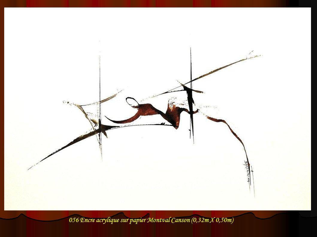 057 Encre acrylique sur papier Montval Canson (0,32m X 0,50m)