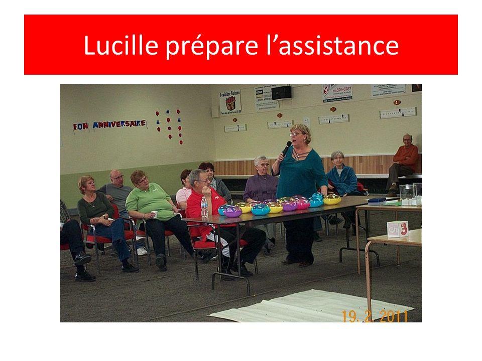 Lucille prépare lassistance