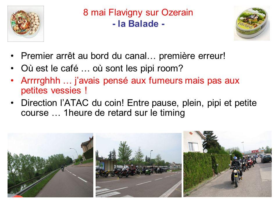 8 mai Flavigny sur Ozerain - la Balade - Premier arrêt au bord du canal… première erreur.