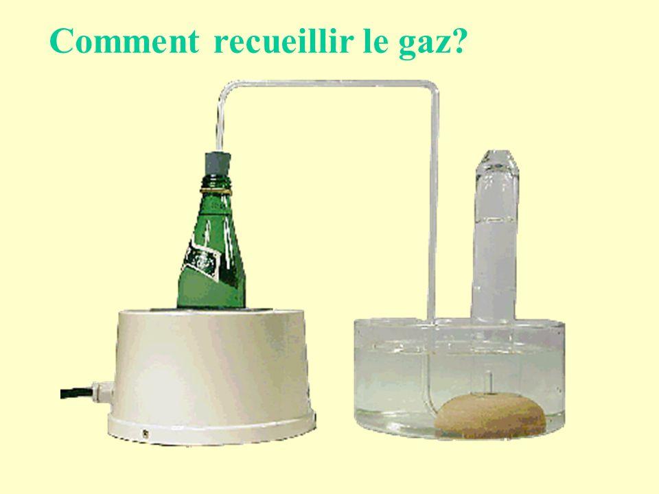Comment recueillir le gaz?