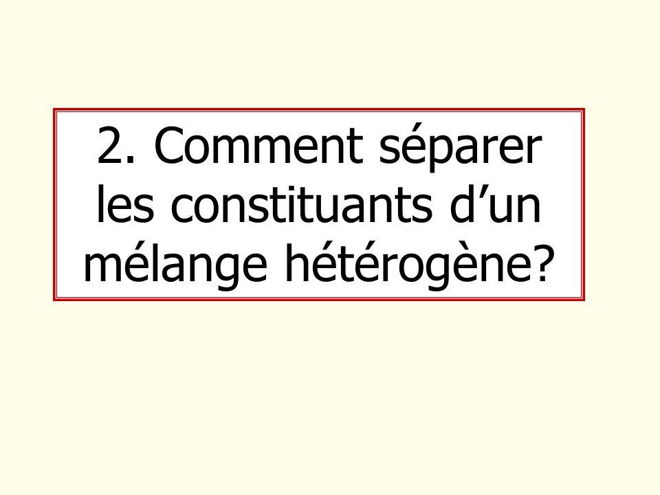 2. Comment séparer les constituants dun mélange hétérogène?