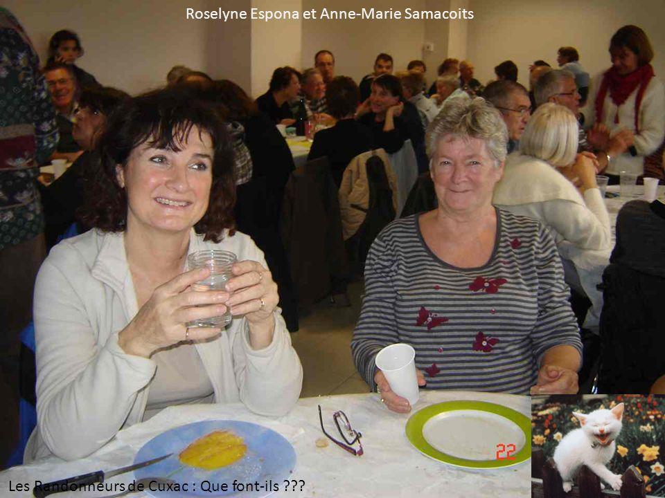Roselyne Espona et Anne-Marie Samacoits Les Randonneurs de Cuxac : Que font-ils ???