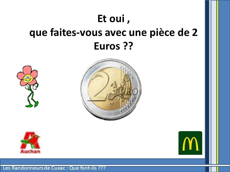 Et oui, que faites-vous avec une pièce de 2 Euros ??