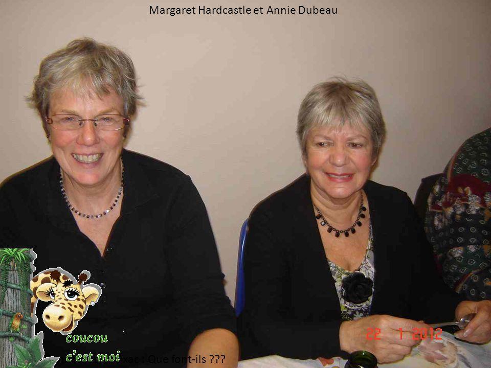 Margaret Hardcastle et Annie Dubeau Les Randonneurs de Cuxac : Que font-ils ???