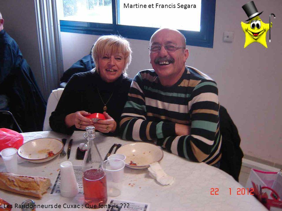 Martine et Francis Segara Les Randonneurs de Cuxac : Que font-ils ???