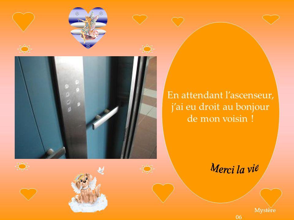 En attendant lascenseur, jai eu droit au bonjour de mon voisin ! Mystère 06