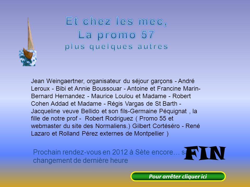 Promo 56 : Annie Darnaud, Eliane Calamel-Ginez, Jeannine Delors-Génestoux, Josette Pastor- Ricbourg, Marcelle Victoria- Hernandez, Marie-Louise Castañ