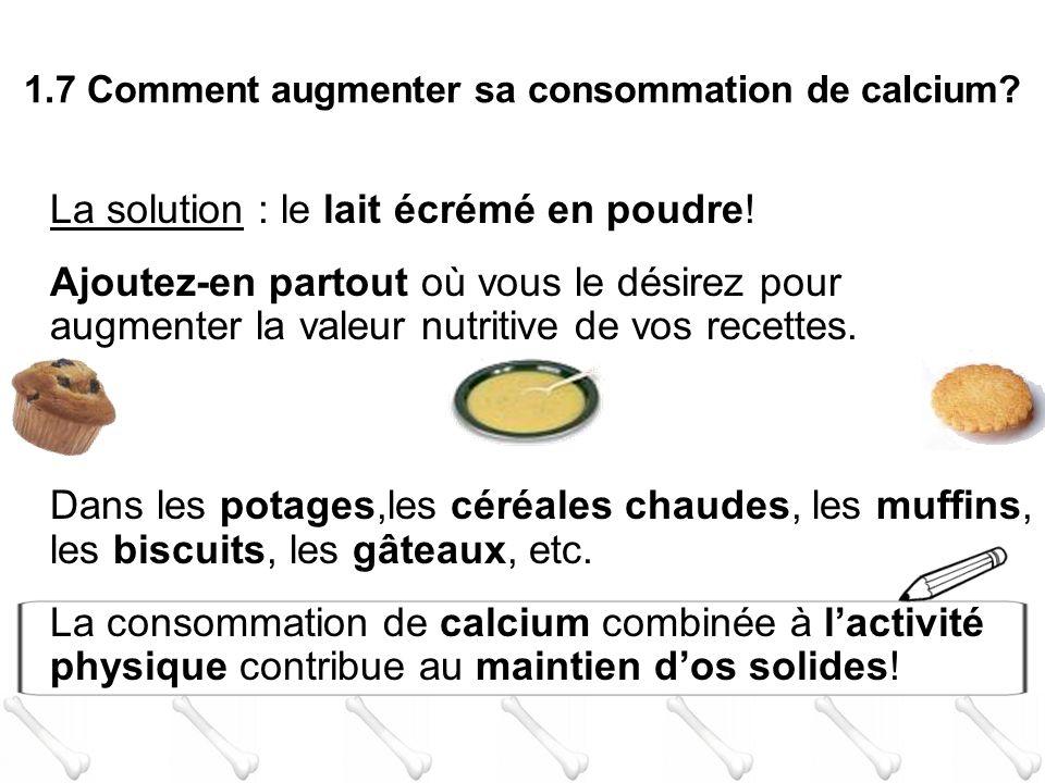 La solution : le lait écrémé en poudre! Ajoutez-en partout où vous le désirez pour augmenter la valeur nutritive de vos recettes. Dans les potages,les
