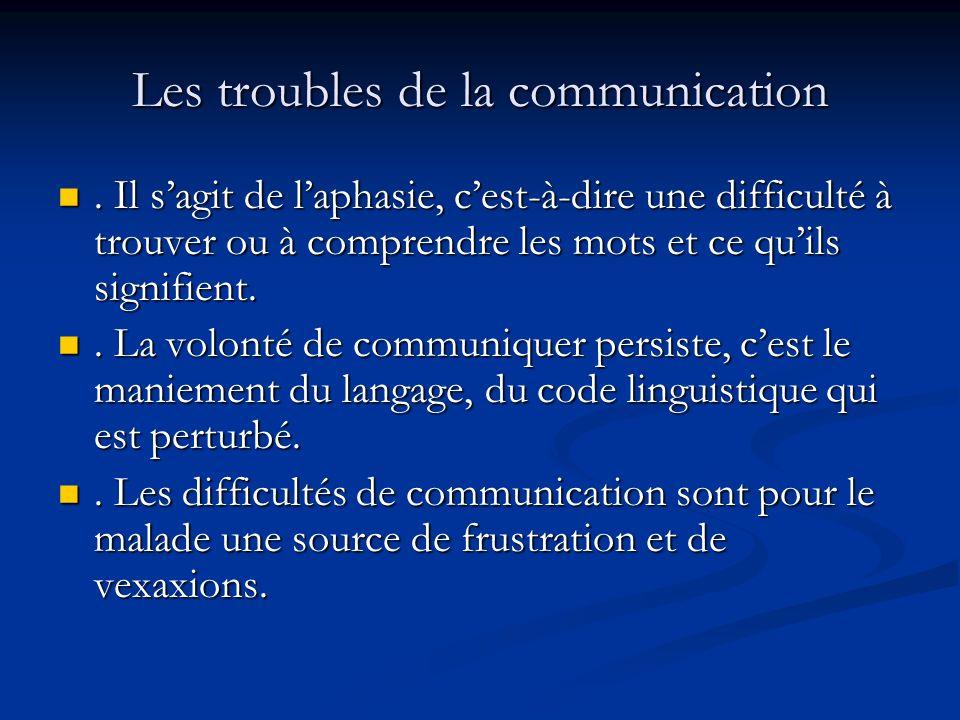 Les troubles de la communication.