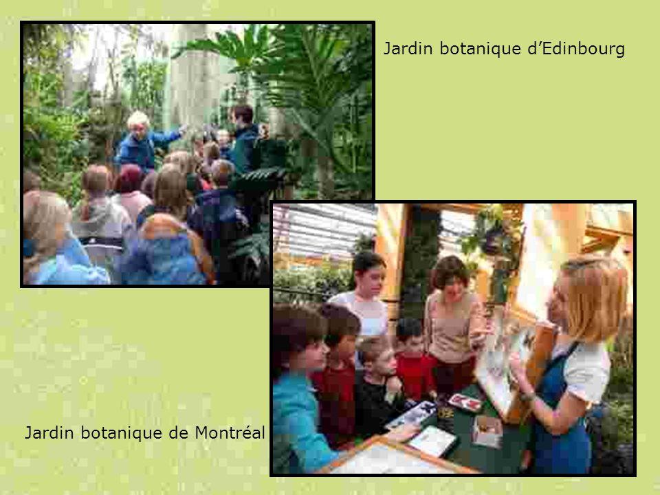 Jardin botanique de Montréal Jardin botanique dEdinbourg