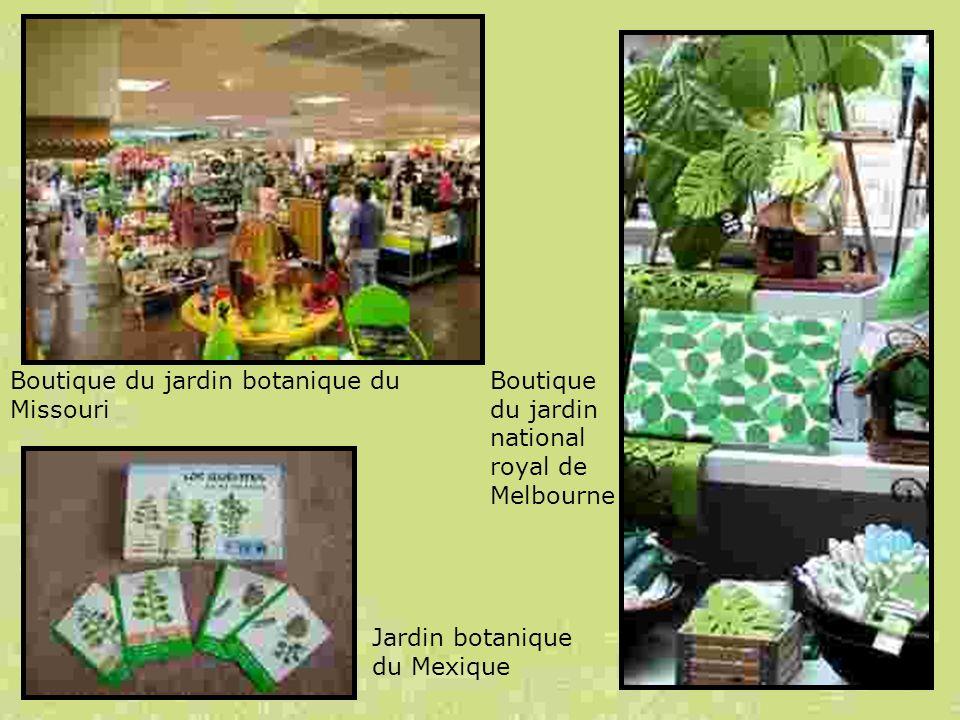 Boutique du jardin botanique du Missouri Boutique du jardin national royal de Melbourne Jardin botanique du Mexique