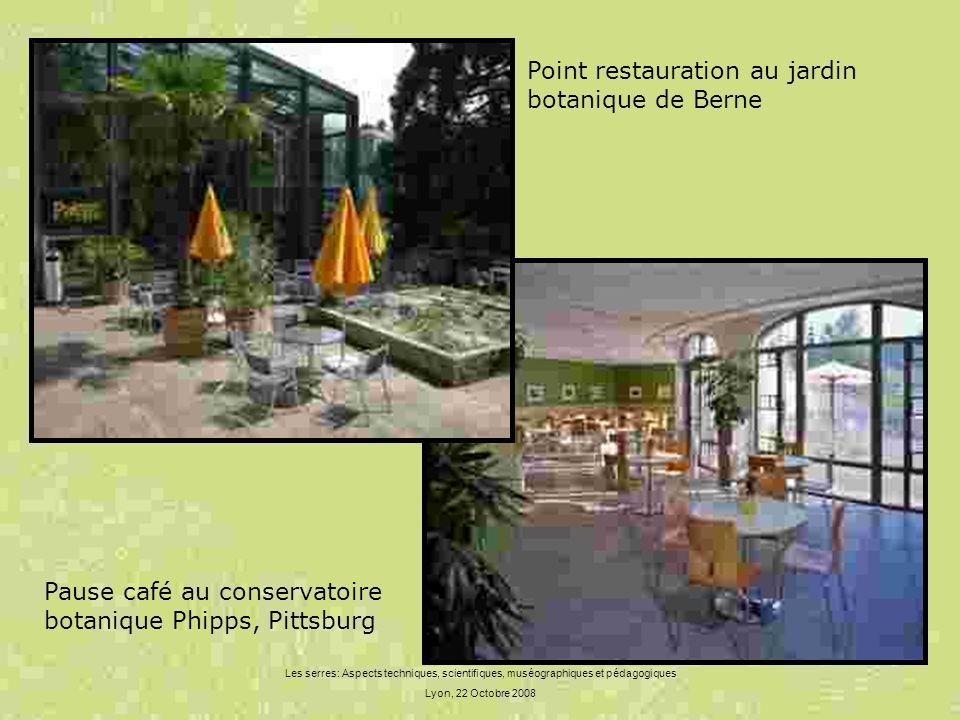 Les serres: Aspects techniques, scientifiques, muséographiques et pédagogiques Lyon, 22 Octobre 2008 Point restauration au jardin botanique de Berne P