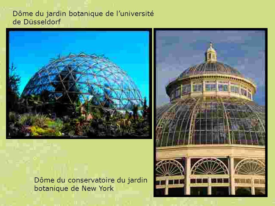 Dôme du jardin botanique de luniversité de Düsseldorf Dôme du conservatoire du jardin botanique de New York