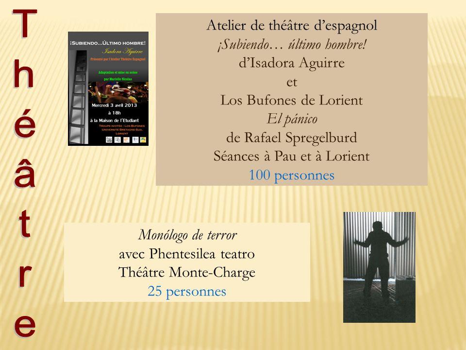 Atelier de théâtre despagnol ¡Subiendo… último hombre! dIsadora Aguirre et Los Bufones de Lorient El pánico de Rafael Spregelburd Séances à Pau et à L