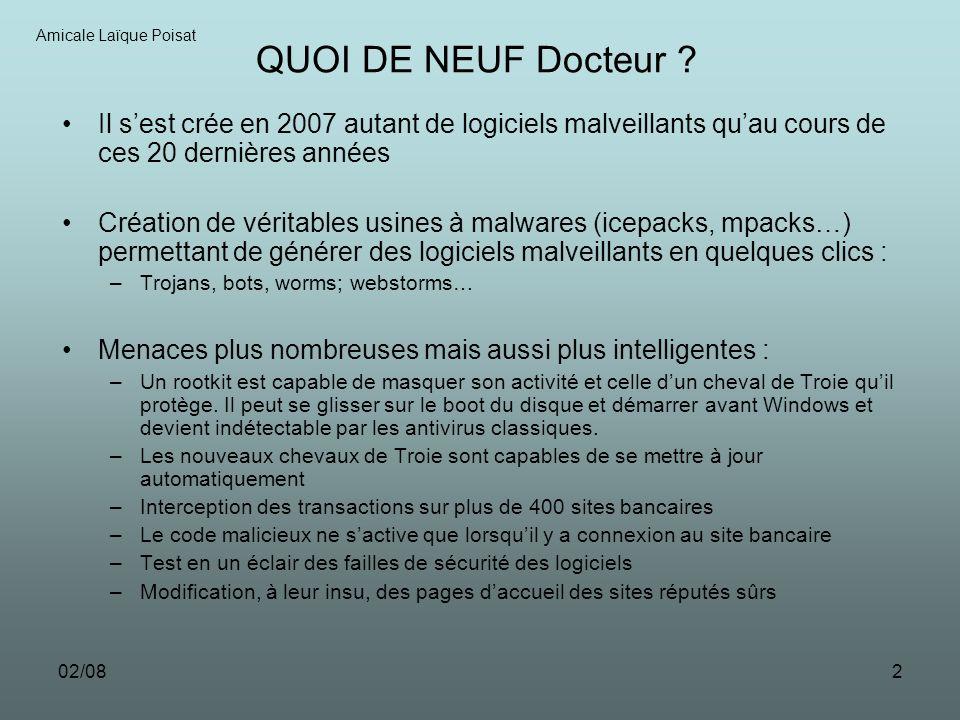 02/082 QUOI DE NEUF Docteur .
