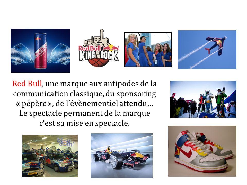 Red Bull, une marque aux antipodes de la communication classique, du sponsoring « pépère », de lévènementiel attendu… Le spectacle permanent de la mar