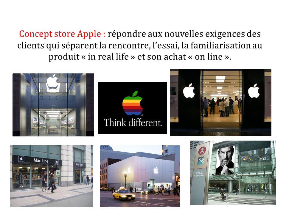 Concept store Apple : répondre aux nouvelles exigences des clients qui séparent la rencontre, lessai, la familiarisation au produit « in real life » e