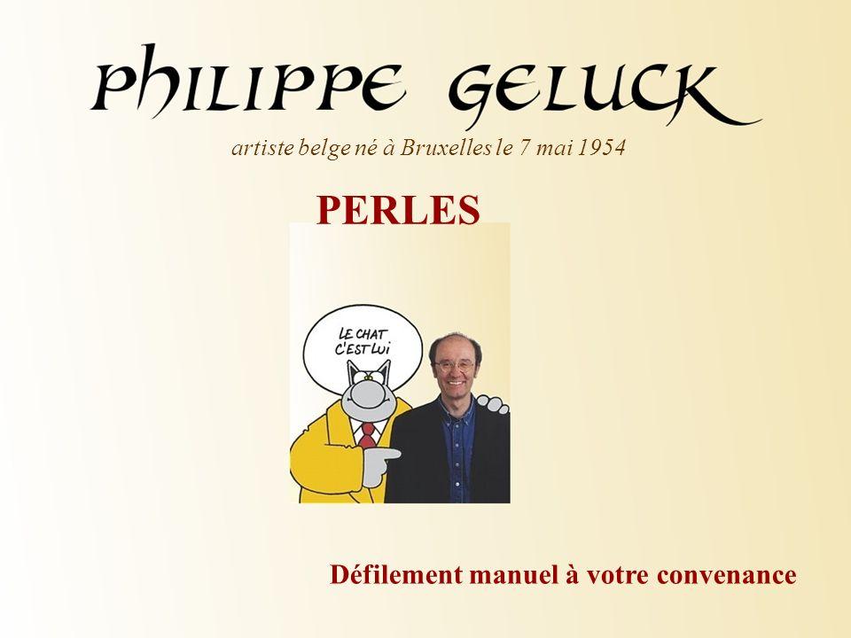 PERLES artiste belge né à Bruxelles le 7 mai 1954 Défilement manuel à votre convenance