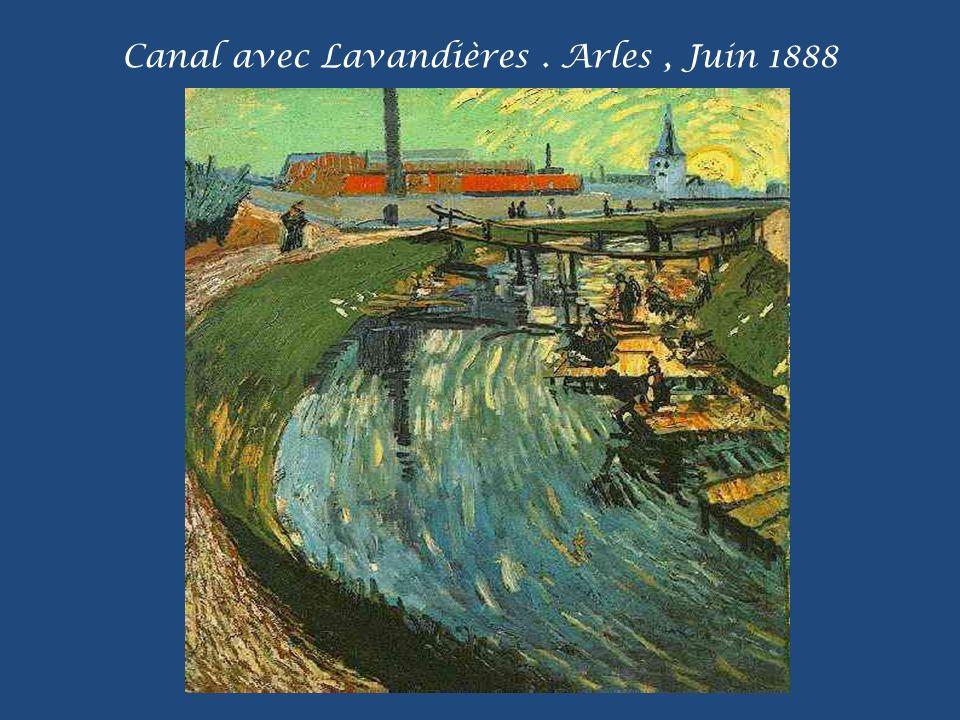 Campement de Gitans avec caravanes. Arles, Aout 1888