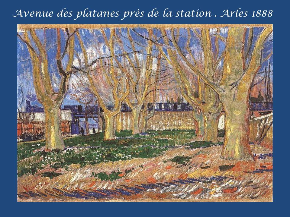 Avenue des platanes près de la station. Arles 1888