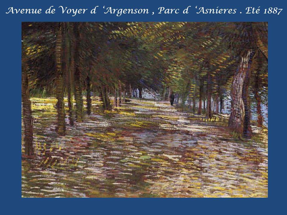 Avenue de Voyer d Argenson, Parc d Asnieres. Eté 1887