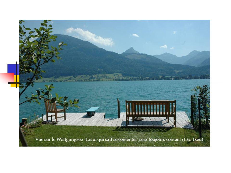 Vue sur le Wolfgangsee - Celui qui sait se contenter sera toujours content (Lao Tseu)