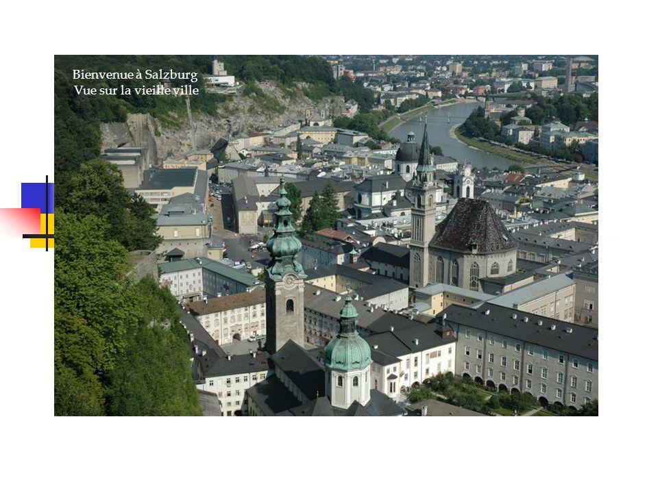 Bienvenue à Salzburg Vue sur la vieille ville