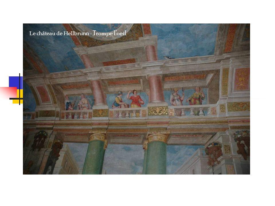 Le château de Hellbrunn - Trompe loeil