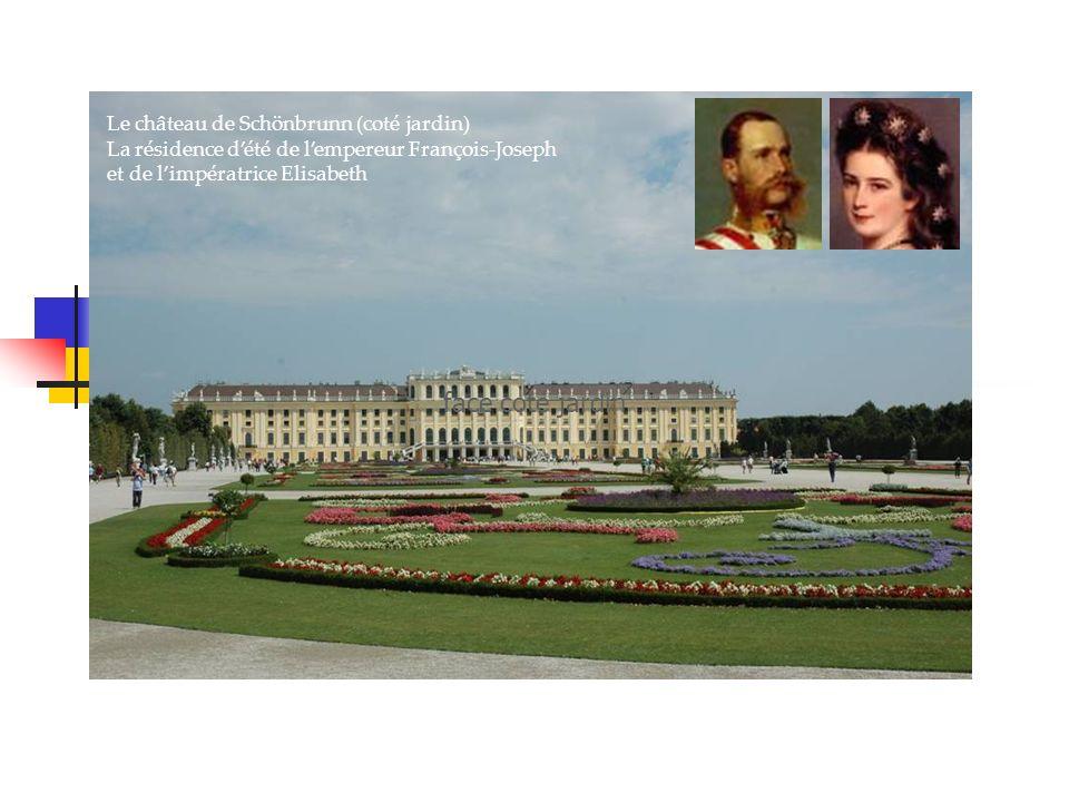 Le château de Schönbrunn (coté jardin) La résidence dété de lempereur François-Joseph et de limpératrice Elisabeth face coté jardin