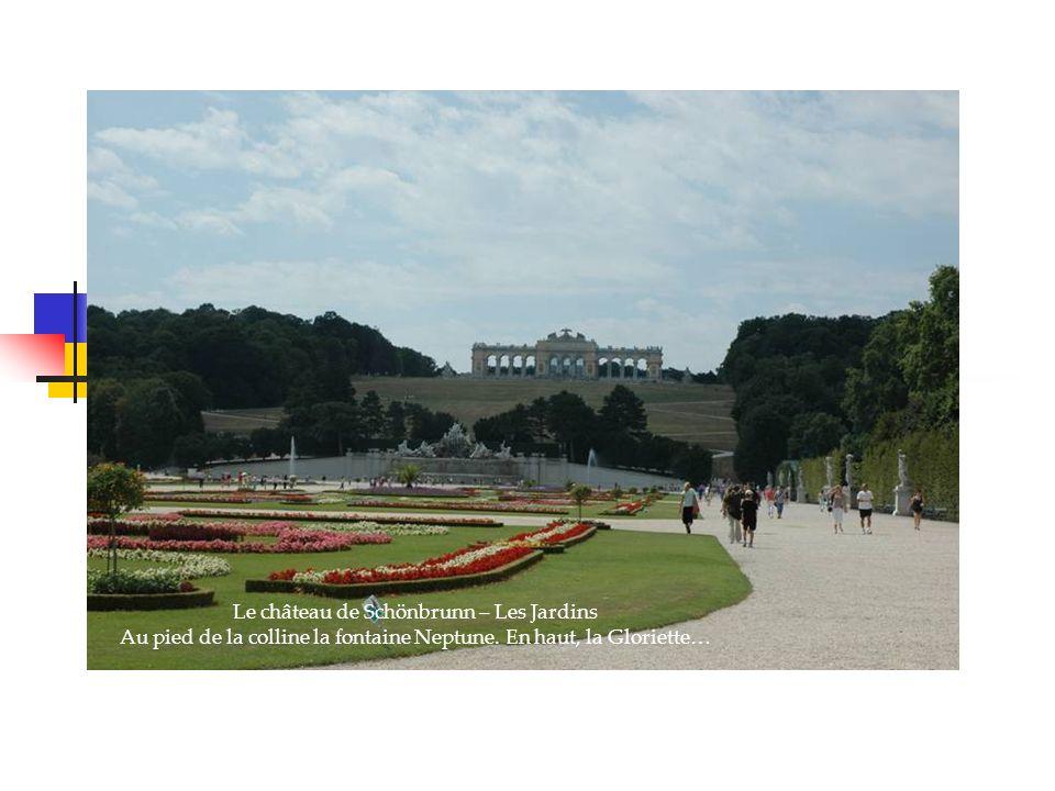 Le château de Schönbrunn – Les Jardins Au pied de la colline la fontaine Neptune.
