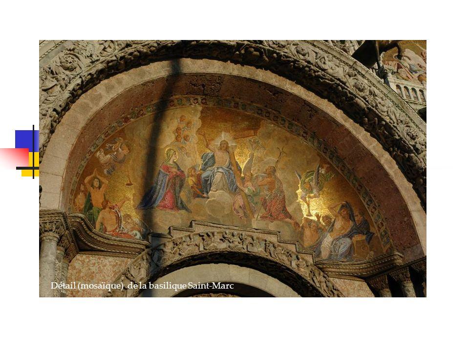 Détail (mosaïque) de la basilique Saint-Marc Venise, la sérénissime