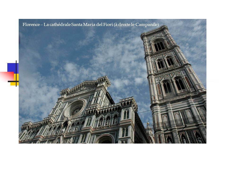 Venise, la sérénissime Florence – La cathédrale Santa Maria del Fiori (à droite le Campanile)
